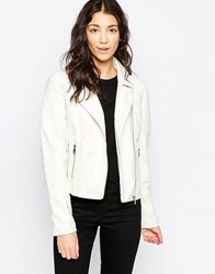 Brave Soul Pu Jacket Cream