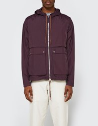 Tres Bien Short Parka Two Layer In Plum