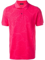 Etro Classic Polo Shirt Pink Purple