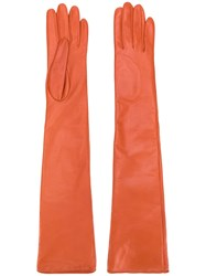 Manokhi Long Classic Gloves Orange