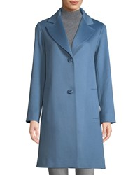Fleurette Long Two Button Wool Coat Blue