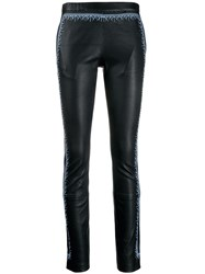 Haider Ackermann Contrasting Insert Leggings Black