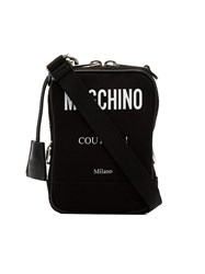 Moschino Printed Logo Crossbody Bag Black