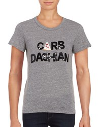 Bow And Drape Carb Dashian Heathered Tee Heather Grey