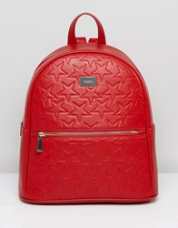 Marc B Star Embossed Backpack Red