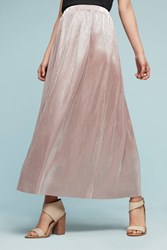 Anthropologie Petite Brilliance Maxi Skirt Pink