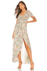 Auguste Spring Rose Wrap Maxi Dress Cream