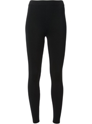 T By Alexander Wang Ribbed Leggings Black