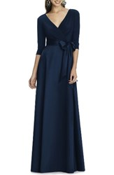 Alfred Sung Women's Jersey Bodice A Line Gown Midnight
