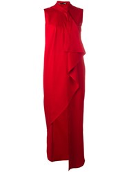 Love Moschino Draped Maxi Dress Red