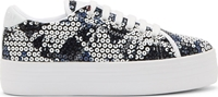 Carven White Sequinned No Name Edition Sneakers
