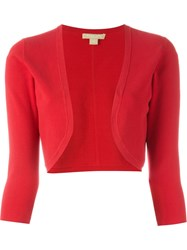 Michael Kors Bolero Cardigan Red