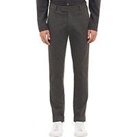 Atm Anthony Thomas Melillo Men's Compact Knit Jersey Cuffed Trousers Dark Grey