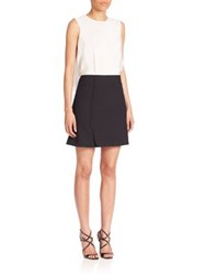 Roland Mouret Gatliff Open Back Colorblock Dress Black White