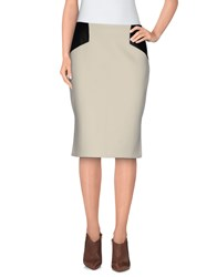 Milly Skirts Knee Length Skirts Women Ivory