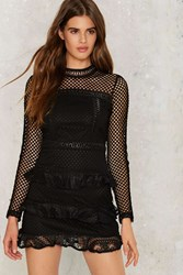 Cast Your Net Fit And Flare Dress Black