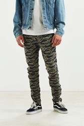Urban Outfitters Uo Tiger Camo Skinny Pant Brown Multi