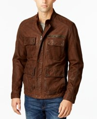 Lucky Brand Men's Leather Jacket Brown