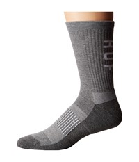 Huf Performance Pro Crew Sock Grey Heather Men's Crew Cut Socks Shoes Gray