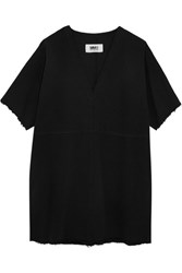 Maison Martin Margiela Mm6 Denim Mini Dress Black