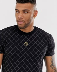 Sik Silk Siksilk Muscle T Shirt With Monogram In Black