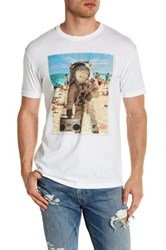 Kid Dangerous Beachstonaut Short Sleeve Front Graphic Print Tee White