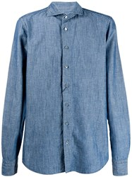 Dell'oglio A Cutaway Collar Shirt Blue