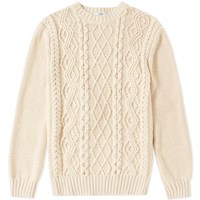 Inis Meain Arran Beach Crew Knit Brown