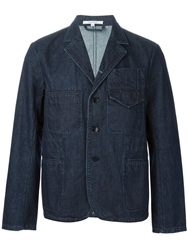 Carven Raw Denim Jacket Blue