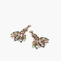 J.Crew Crystal Lace Earrings Navy