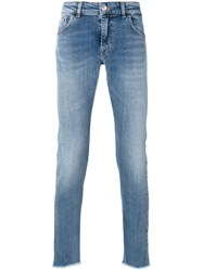 Entre Amis Slim Fit Jeans Men Cotton Polyurethane 34 Blue