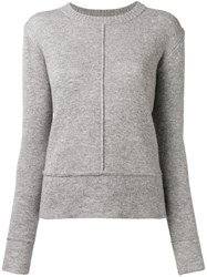 Woolrich Piped Seams Jumper Grey
