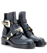 Balenciaga Exclusive To Mytheresa.Com Ceinture Leather Cut Out Boots Grey