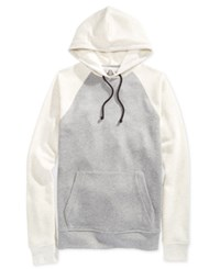 American Rag Men's Raglan Fleece Hoodie Pewter Heather