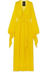 Roland Mouret Swanson Silk Crepe Gown Yellow
