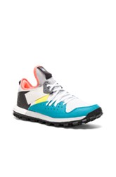 Kolor X Adidas Knit Response Trail Sneakers In Gray Blue Gray Blue