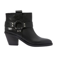 See By Chloe Santiag Ankle Boots Nero