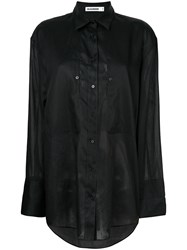 Jil Sander Oversized Button Shirt Black