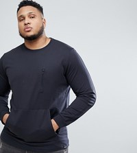 Only And Sons Plus Sweatshirt With Multi Pocket Grey