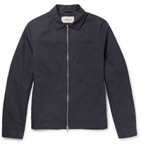 Oliver Spencer Buck Pinstriped Cotton Jacket Navy