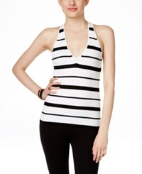 Inc International Concepts Striped Halter Top Only At Macy's Black