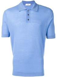 Pringle Of Scotland Merino Wool Polo Shirt Blue