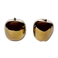 Pols Potten Apples Set Of 2 Gold