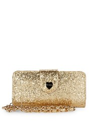 Betsey Johnson Convertible Bi Fold Wallet Gold