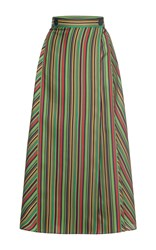 Marco De Vincenzo Silk A Line Skirt Multi