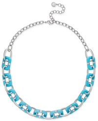 Charter Club Resin Link Statement Necklace Only At Macy's Silver