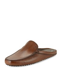 Tod's Gommini Benson Burnished Leather Slipper Brown
