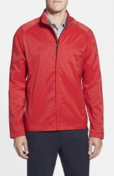Men's Big And Tall Cutter And Buck 'Blakely' Weathertec Wind And Water Resistant Full Zip Jacket Red