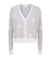 Escada Sport Polka Dot Knit Cardigan Female Grey