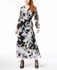 Bar Iii Floral Print Maxi Wrap Dress Created For Macy's Mystic Floral